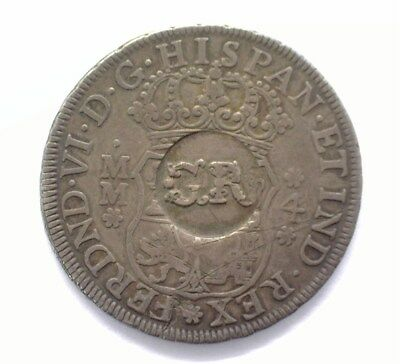 Jamaica 3 Shilling 4 Pence C/s On Mexico 1758 4 Reales Choice Extra Fine Rare!