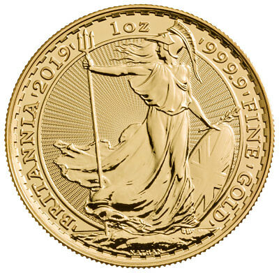 2019 Great Britain 1 oz. Gold Britannia £100 Coin GEM BU SKU55873
