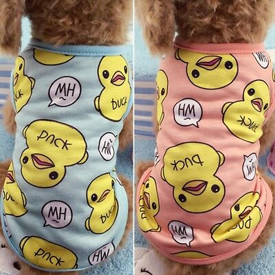 Puppy Clothing Dog Pajamas Cotton Dog Clothes Chihuahua Yorkie  for Dog Vest