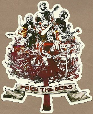 13cm X 18.5cm Shaped Promotional Sticker THE BEES Horsemen / Free The Bees  MINT