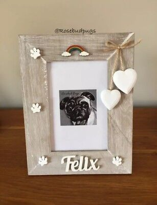 Rainbow Bridge Pet Loss Personalised Photo Frame