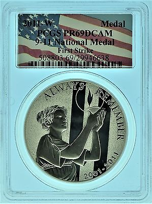 2011 PCGS PR69 First Strike 9-11-2001 National Memorial Medal (b49r)
