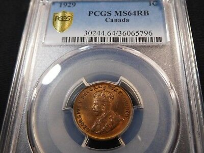 Z33 Canada 1929 Small Cent PCGS MS-64 Red Brown