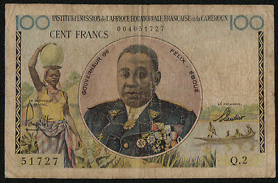 FRENCH EQUATORIAL AFRICA (P32) 100 Francs ND(1957) VG+