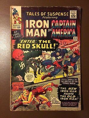 Marvel comics : TALES OF SUSPNSE # 65 , 1965, G , 1st Silver Age RED SKULL