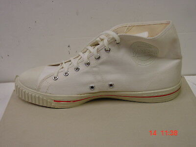 Vtg. Men's Canvas High Top SHOES SNEAKERS Dead Stock 12 M Basketball Made in USA