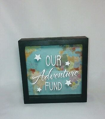 Splosh Change Money Box - Travel Dream Adventure Fund Saver - Glass Shadow Box