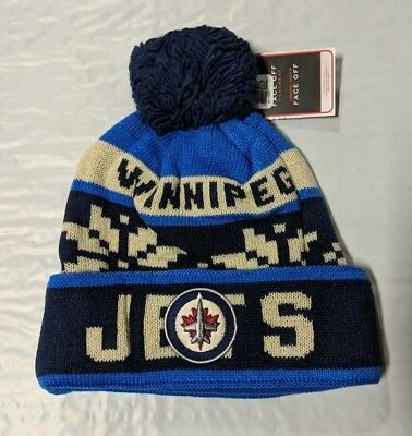 Winnipeg Jets Knit Beanie Toque Winter Hat Cap NHL New Snowflake Cuffed Pom aa030949f66a