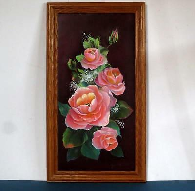 Original Oil / Acrylic Rose Floral Painting Signed by Artist Jane Holland Tarail