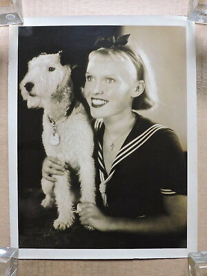 Rotraut Richter with a Wire Fox Terrier large DW portrait photo 1937 Meiseken