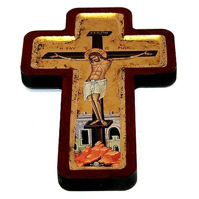 """1892y Russian Royal Imperial 84"""" Silver Gold Icon Oklad Crucifixion Jesus Christ Silver"""