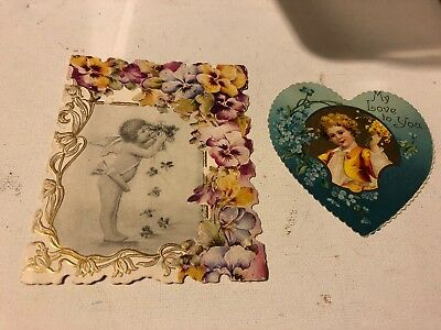 Lot of 2 Vintage Valentine Cards