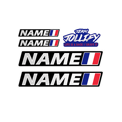 Copilote 006 2 X Sets Nom Pilote Drapeau Course Blanc Autocollant Sticker