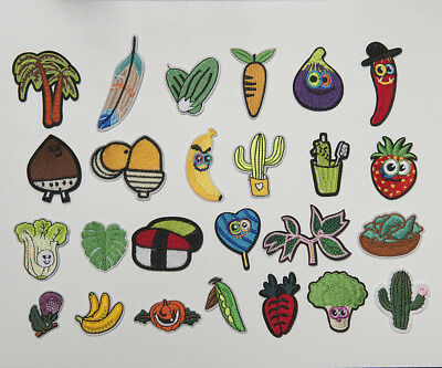 Cute Machine Embroidery Sew Iron On Applique Patch Plants