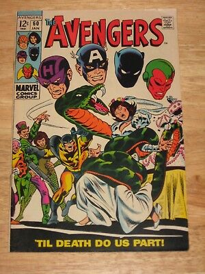Avengers 60 Wedding Of Ant Man & Wasp 1st appearance of Yellowjacket Silver Age