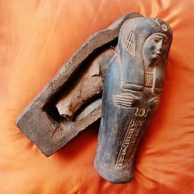 RARE Unique Egyptian Sarcophagus Ancient Middle Kingdom Funerary Ushabti Coffin