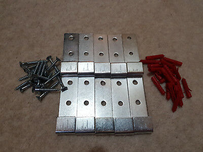 Fire extinguisher J bracket (X10) for wall mounting extinguishers. With fixings.
