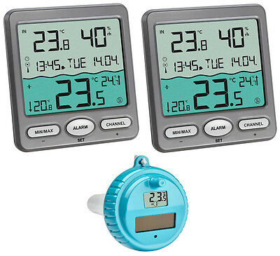 Venice plus Tfa 30.3056.10.PLUS 2 Display Funk-Schwimmbad-Thermometer Aquarium