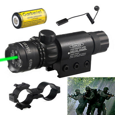 Tactical Military Green Dot Laser Sight for Rifle Gun Scope Rail Remote Switch