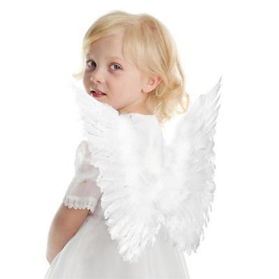 Kids Adult Angel Wings Fancy Dress Fairy Feather Outfit Hen Party Halloween LC