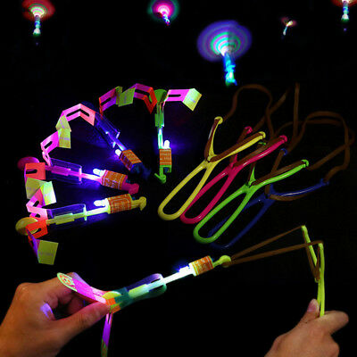 1x Funny LED Light Up Glow Dragonfly flying for Night Party Gadgets Kids toys