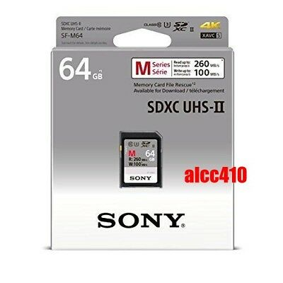 Sony 64GB SD SDXC Memory Card Read 260MB/s Class 10 U3 4K UHS-II SF-M64 AU