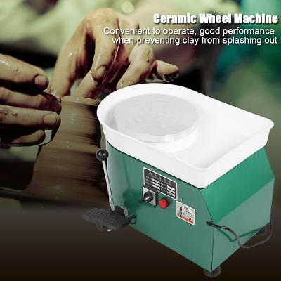 350W 220V Electric Pottery Wheel Machine Ceramic Throwing Work Clay Shaping Tool