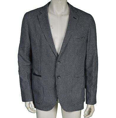 8ca8606e6bd Hugo Boss Matley Grey Houndstooth Tweed Wool Blazer Jacket Men's UK Size 44R