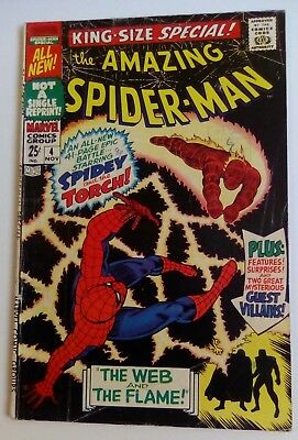 Amazing Spider-Man King Sized Special No. 4 November 1967. Very Good.