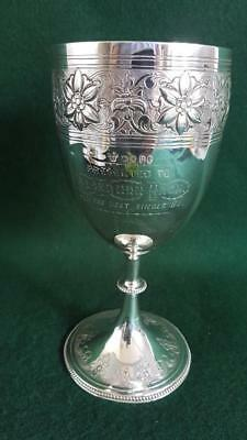 H/M Ldn 1875 Sterling Silver Sterling Silver Goblet/Chalice Shaped Trophy 213g