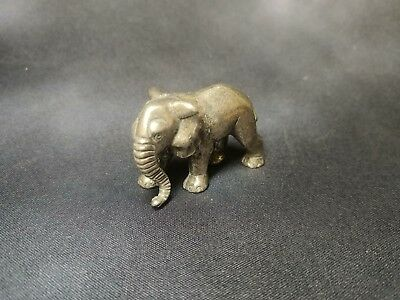 "Pewter Elephant Figurine 2"" Long"