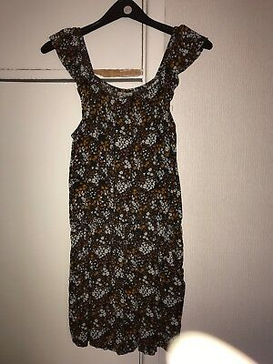 Next Girls Sleeveless Orange Brown & Black Playsuit Age 13
