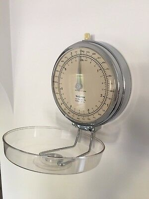 Vintage Salter Kitchen Wall Mounted Scale To Weigh Up 7 Lb 3kg