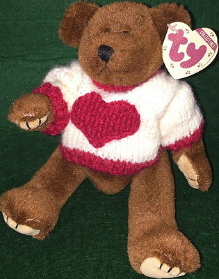 "TY Attic Treasure ""CASANOVA"" the TEDDY BEAR #6073 TAN Tag 8"" MWMT PLUSH 6th Gen"