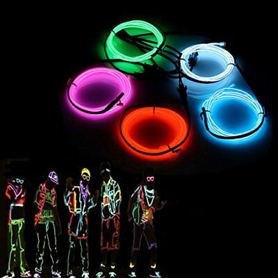 El Wires,audew 5x1m Neon Lights Glowing Strobing Dance Party Costume Decor Light