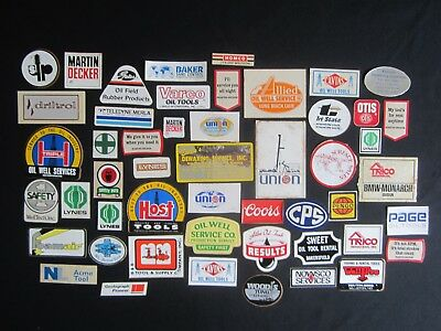 Vtg OIL GAS TOOL STICKERS Decal 48 LOT Bundle FUEL Station Co. REPAIR Rare NOS $