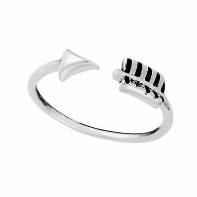 81stgeneration Argent Sterling Bande Mince Double Triangle Bague Empilable