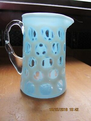 Antique Small Cased Glass Coin Spot Pitcher