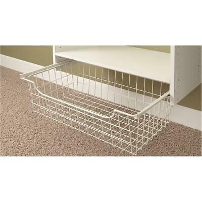 Stow 2559581 Easy Track Hanging Wire Basket - White - 24 x 12 in.