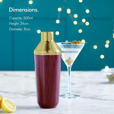 Purple Gold Cocktail Shaker Stylish Design Easy Prep Party Drinks For Mixologist