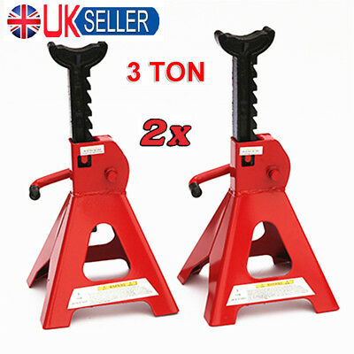 3 Ton Axle Stands Lifting Capacity Stand Heavy Duty Car Caravan Floor Jack Pair