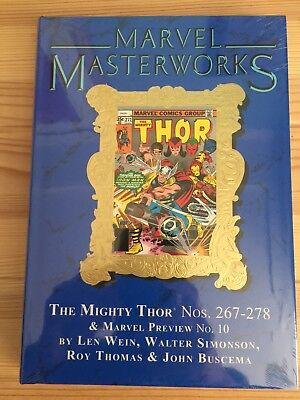 MARVEL MASTERWORKS #267 THE MIGHTY THOR Volume #17 DM Variant HC Global Shipping