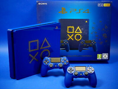 Sony Playstation 4 Slim 500 GB Days Of Play Limited Edition & 2 Controller ~8433