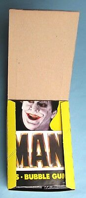 1989 - Topps - Batman - Series 2 - Complete Wax Box - 36 Count - Insert Poster