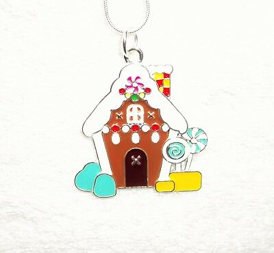 HANSEL & GRETEL Inspired Large Charm NECKLACE GINGERBREAD HOUSE