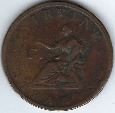 IRELAND Co. Tyrone Strabane Gerard Irvine 1813 Penny Withers 1901a In 3835