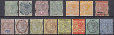 KOLONIE JAMAICA Karibik 1885-1911 collection QV sidefaces ex Mi 19-56 */MLH €195