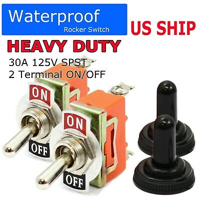 12V Heavy Duty Toggle Flick Switch ON/OFF Car Boat SUV Dash Light Metal SPST