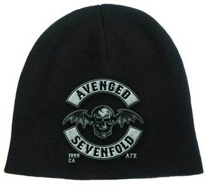 Brand New Adult Avenged Sevenfold Deathbat Embroidered Knit Beanie Hat OSFA