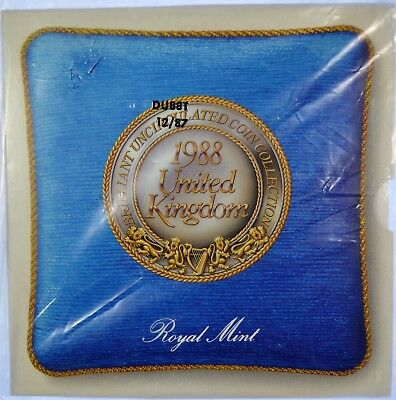 """1988 United Kingdom """"ROYAL MINT"""" Brilliant Uncirculated Coin Collection (b454.3)"""